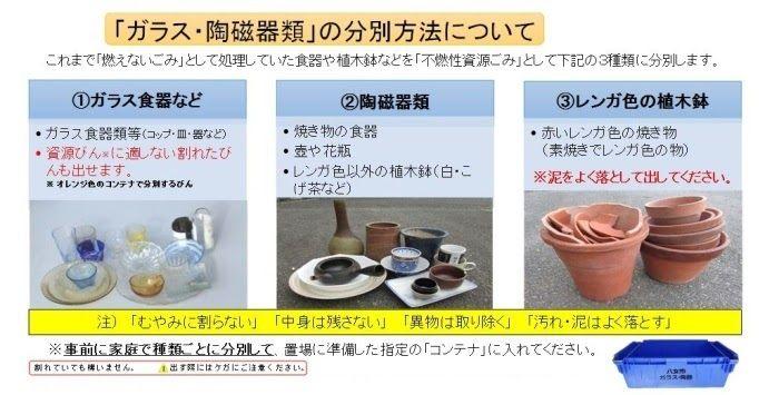 ガラス・陶器類分別方法